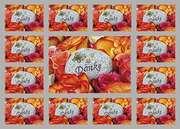 Aufkleber-Gruß-Karten: Danke, 12 Stück