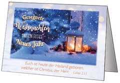 Faltkarten Weihnachten, 5 Stück