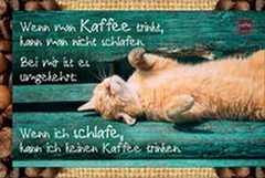 Kaffeekarte - Wenn man Kaffee trinkt...