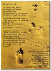 Postkarten: Spuren im Sand, 4 Stück