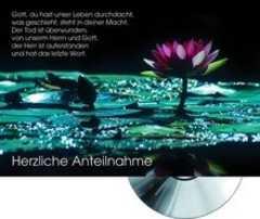 CD-Card: Herzliche Anteilnahme (Seerose)