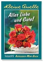 """Aufkleber-Mini-Buch """"Alles Liebe und Gute"""""""