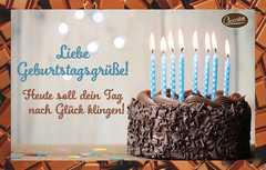 Schokokarte - Liebe Geburtstagsgrüße